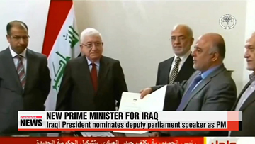 Iraqi president names replacement for Maliki