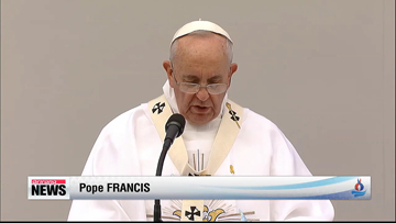 Pope Francis holds first mass in Daejon, Korea; Prays for Sewol victims