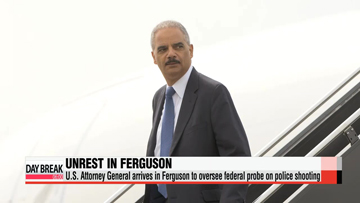 U.S. Attorney General arrives in Ferguson to oversee federal probe on police shooting