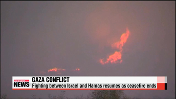 Gaza conflict resumes as peace talks break down