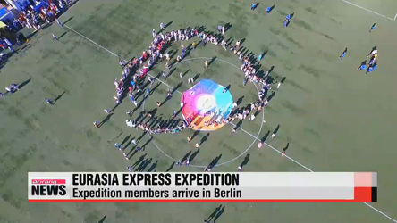 Eurasia express expedition members arrive in Berlin