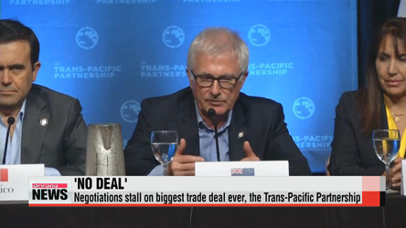 Negotiations stall on Trans-Pacific Partnership
