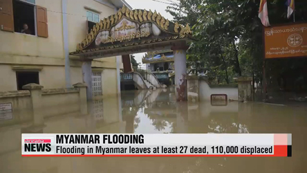Heavy flooding in Myanmar leaves dozens dead