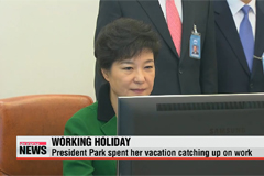 President Park returns to work after vacation