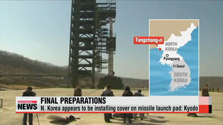 N. Korea appears to be installing cover over missile launch pad: Kyodo