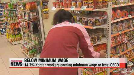 One out of 7 Korean workers paid less than minimum wage: report