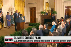 U.S. President Obama unveils regulations to combat climate change