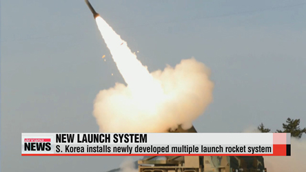 S. Korea installs newly developed multiple launch rocket system