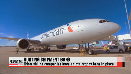 American airline companies join ban on game trophies