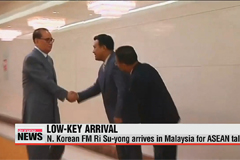 N. Korean FM arrives in Malaysia for ASEAN forum