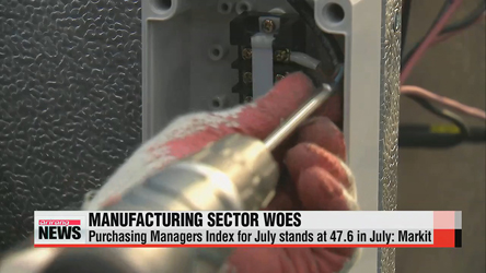 Korea's manufacturing PMI in July lowest since August 2013