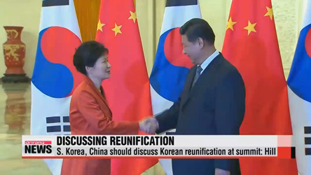 Park, Xi should discuss Korean reunification at upcoming summit: Hill