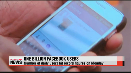 Facebook hits 1 billion users in a single day on Monday