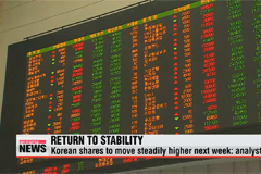 Korean shares to move steadily higher next week: analysts