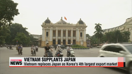 Vietnam supplants Japan as S. Korea's 4th largest export market
