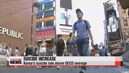 S. Korea tops OECD suicide rate ranking
