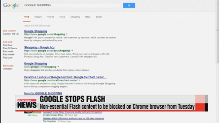 Google Chrome stops Flash from September 1