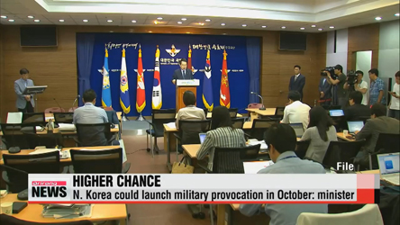 Seoul's vice defense minister warns of provocation by North Korea in October
