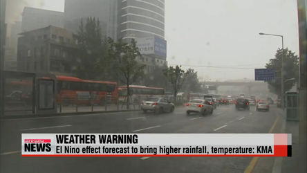 Weather experts forecast Korea to be indirectly affected by El Nino