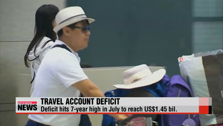 Korea's travel account hits 7-year high in July