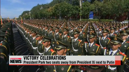 China celebrates WWII victory, President Park attends military parade