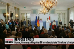 France, Germany asking other EU members to take 'fair share' of refugees