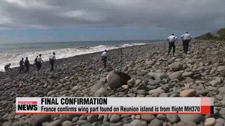 France confirms wing part found on Reunion island is from MH370