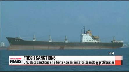 U.S. slaps sanctions on 2 North Korean firms