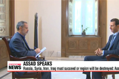 Russia intensifies air strikes in Syria as Assad speaks out