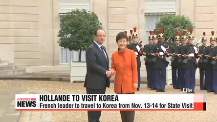 Hollande to travel to Korea for state visit in Nov.