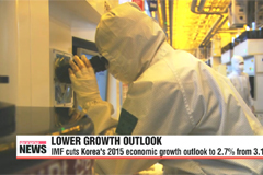 IMF lowers Korea's growth forecast to 2.7%