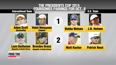 Pairings for five foursome matches at Presidents Cup announced