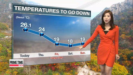 Chillier and cloudier Thursday, rain on the weekend