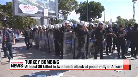 At least 86 killed in twin bomb attack at peace rally in Turkey