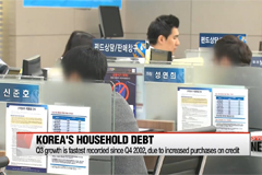 BD  Korea's household debt grows at fastest pace in Q3