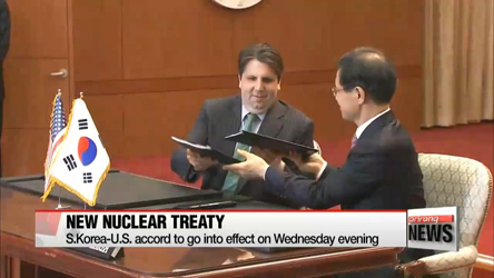 New S. Korea-U.S. nuclear treaty to go into effect