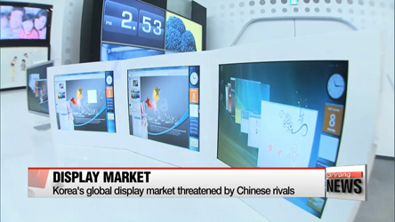 Korea's global display market threatened by Chinese companies