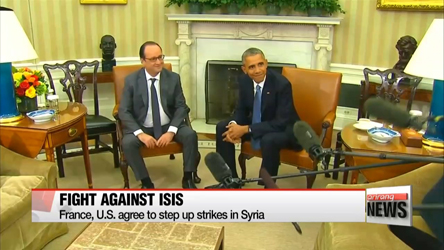 France, U.S. agree to step up strikes on ISIS targets in Syria