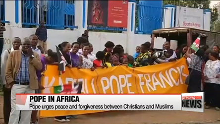 Pope Francis arrives in Kenya for five-day, three-nation African tour