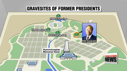 Former president Kim Young-sam buried at Seoul National Cemetery