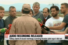 Turkey releases audio recording of warning to downed Russian jet