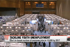 Korean gov't to boost number of overseas youth jobs to 10,000 by 2017