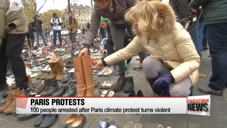 Tens of thousands of people rally for climate action ahead of Paris talks