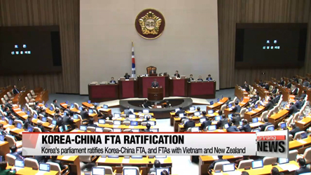 Korea ratifies FTAs with China Vietnam and New Zealand