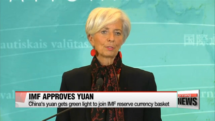 IMF approves China's yuan for benchmark currency basket