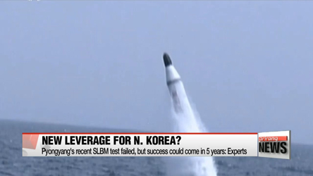 Will N. Korea use SLBM tests as leverage in upcoming high-level talks?