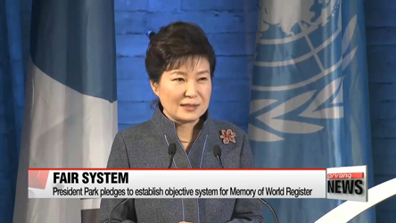 President Park makes bid to establish fair and objective system for Memory of World