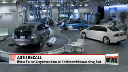 Honda, Fiat and Chrysler recall around 5 million vehicles over airbag fault