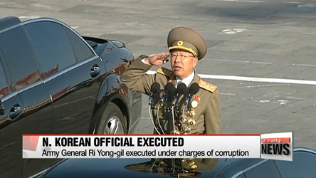 Kim's 'Reign of Terror' continues as N. Korean Army General Ri Yong-gil is executed