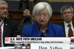Yellen suggests Federal Reserve may delay rate increases